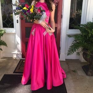 Sherri Hill 51587 Hot Pink Prom Dress *Pockets* 💗